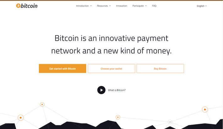 Bitcoin homepage