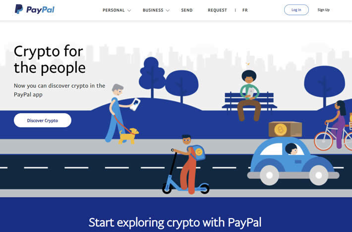 Paypal now accepts cryptocurrencies initially featuring Bitcoin, Ethereum, Bitcoin Cash and Litecoin.