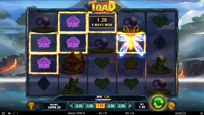 Play n Go slot Fire Toad 2021