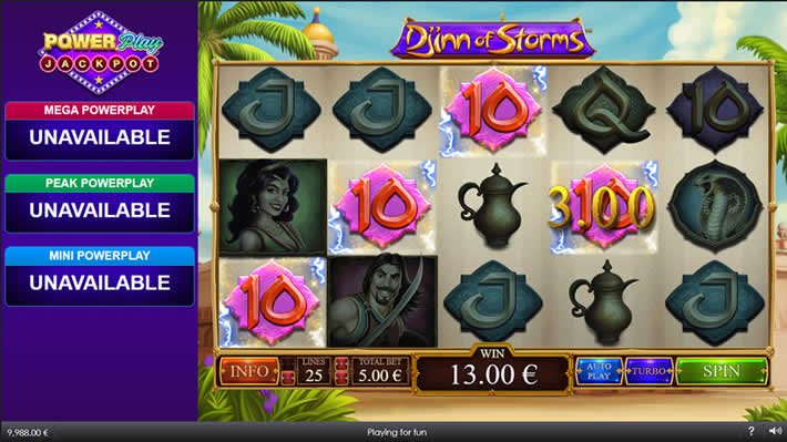 Djinn of Storms Playtech Slot