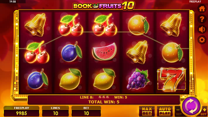 Book of Fruits 10 slot by Amatic