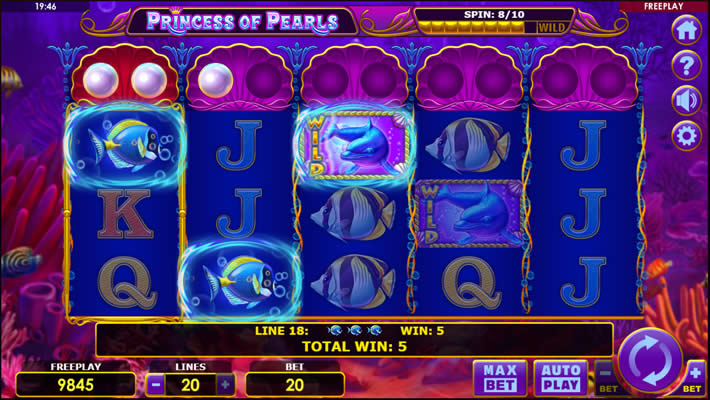 Princess of Pearls slot by Amatic Industries