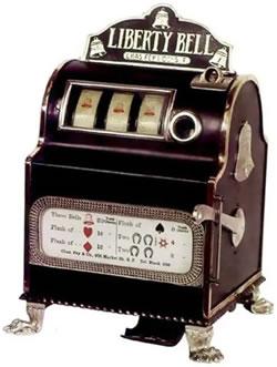 Liberty Bell Vegas slot machine 1887.