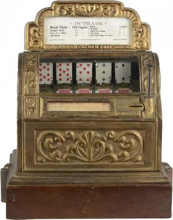 Sittman and Pitt first poker machine from 1891.
