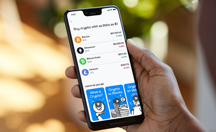 Venmo offers the option to buy cryptocurrencies.